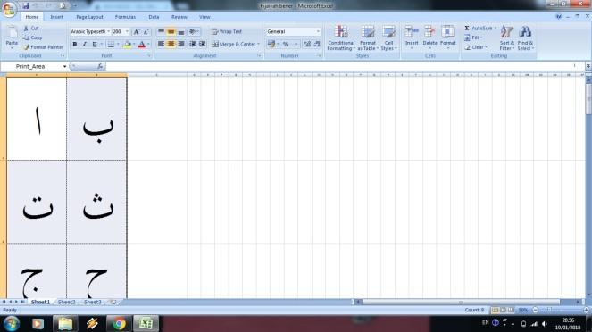 Hijaiyah Excel